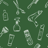Barbershop doodle pattern Royalty Free Stock Images
