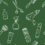 Barbershop doodle pattern Royalty Free Stock Images
