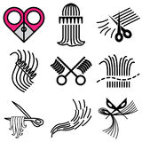 Barbershop hair icons Stock Images