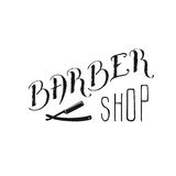 Barbershop. Hand draw lettering in vector. Barber shop modern  calligraphy in vintage style. Best for barbershops, chalk board, print design, web, t-shirts Stock Photo