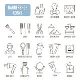 Barbershop icons. Set of vector pictogram Stock Images