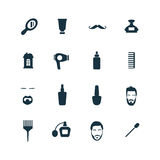 Barbershop icons set Stock Photography