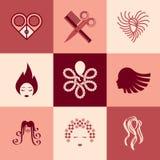 Barbershop icons vector set Stock Photos