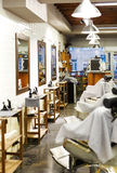 Barbershop interior Stock Image