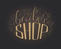 Barbershop lettering. Hand draw lettering in vector. Barber shop modern  calligraphy in vintage style. Best for barbershops, chalk board, print design, web, t Stock Images