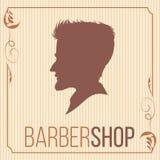 Barbershop logo vintage 3. vector illustration. part of collecti Stock Photos