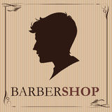 Barbershop logo vintage 2. vector illustration. part of collecti Royalty Free Stock Photography