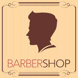 Barbershop logo vintage 4. vector illustration. part of collection Royalty Free Stock Photos
