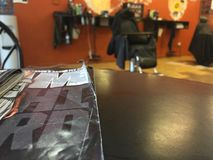 Barbershop lounging Royalty Free Stock Image