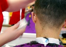 Barbershop. Male head Royalty Free Stock Image