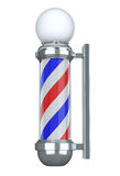 Barbershop Pole. (3D illustration isolated over white background Royalty Free Stock Photo