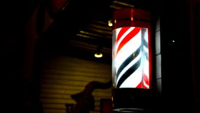 Barbershop pole. stock video