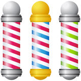 Barbershop Poles - Gold and Silver Royalty Free Stock Photo