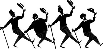 Barbershop quartet silhouette Royalty Free Stock Photography