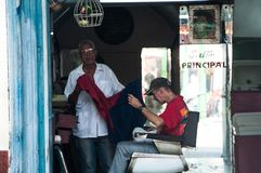 A barbershop in Santiago de Cuba Royalty Free Stock Images