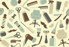 Barbershop seamless background Stock Photo