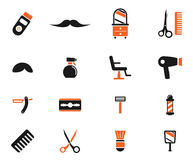 Barbershop simply icons Royalty Free Stock Photos