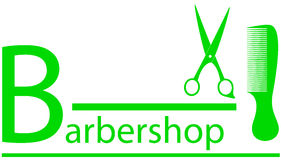 Barbershop symbol with scissors and comb Stock Photo