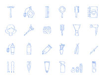 Barbershop tool icons Royalty Free Stock Images