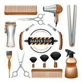 Barbershop tools set Stock Photography