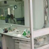 Barbershop in Tripoli. Tripoli, Lybia - May 02, 2002: Barbershop interior in Tripoli Royalty Free Stock Images