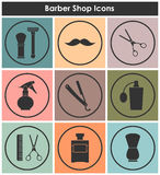 Barbershop vintage icons set Royalty Free Stock Photos