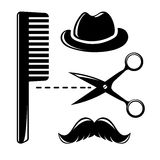 Barbershop vintage icons Royalty Free Stock Photography