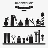 Barbershop vintage symbols set Royalty Free Stock Images