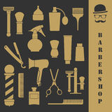 Barbershop vintage tools set Stock Image
