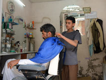 Barbershop, Yemen Stock Photography
