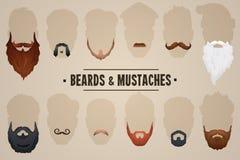 Barbes et moustaches Image libre de droits