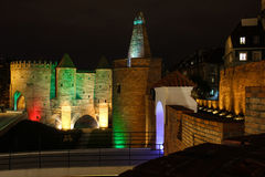 Barbican and castle walls. Warsaw. Poland. Stock Photography
