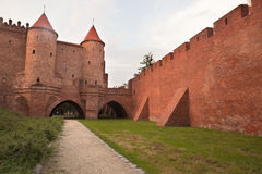 Barbican castle in Warsaw's old town Stock Photos