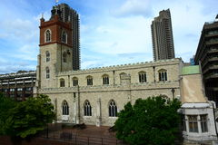 Barbican and Church Royalty Free Stock Images