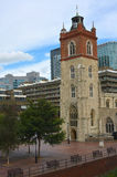 Barbican and Church Stock Photos