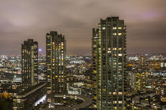 Barbican and city afrer dark Stock Image