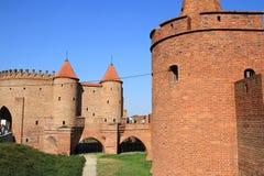 Barbican city walls in Warsaw Royalty Free Stock Photos