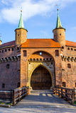 Barbican in Cracow, Poland Royalty Free Stock Photography