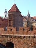 Barbican de Varsóvia imagens de stock