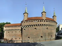Barbican em Krakow, Poland Imagens de Stock