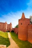 Barbican and fortification in Warsaw Royalty Free Stock Images