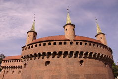 Barbican fortress in Krakow Royalty Free Stock Photo