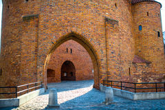 Barbican fortress in warsaw Stock Photo