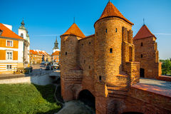 Barbican fortress in warsaw Stock Image