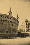 The Barbican in Krakow Stock Photography