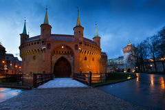 Barbican in Krakow. Royalty Free Stock Images