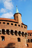 The Barbican in Krakow, Poland. Stock Photography
