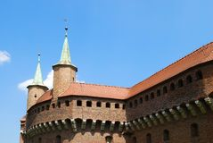 The Barbican in Krakow, Poland. Stock Images
