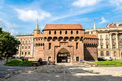 Barbican in Krakow, Poland Royalty Free Stock Photography