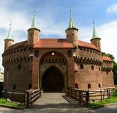 Barbican in Krakow, Poland Stock Image